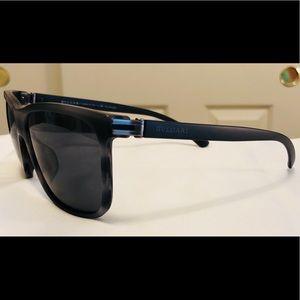 New Matte Grey polarized Bvlgari Sunglasses 7027-F